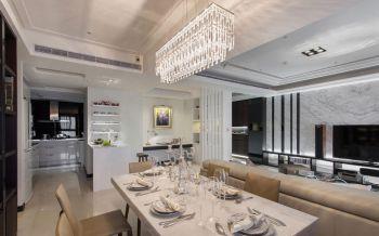 餐厅白色飘窗现代简约风格装修设计图片