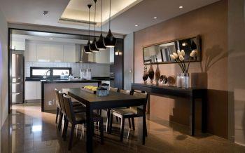 餐厅黑色吊顶古典风格装饰效果图