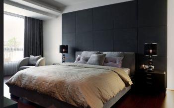 卧室黑色背景墙古典风格装潢效果图