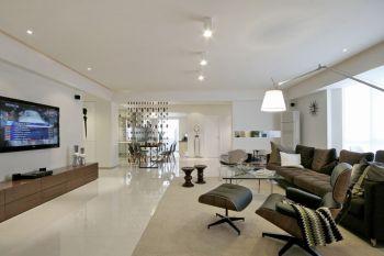 客厅白色简约风格装潢效果图