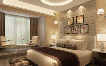 卧室米色照片墙现代简约风格装饰设计图片