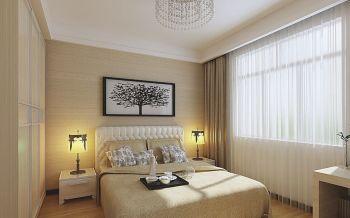 卧室米色现代简约风格装潢设计图片