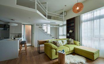 现代简约风格时尚复式公寓装修效果图