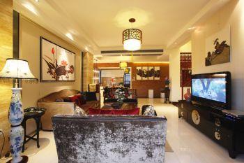 亲亲家园三居室新中式风格装修案例图