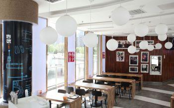 西少爷快餐店大厅照片墙装修图片