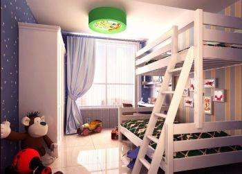 儿童房白色床现代简约风格装饰效果图