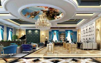 凡尔赛售楼部客厅吊顶装修图片