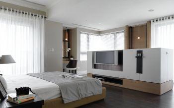 现代简约白色清新三居装修效果图