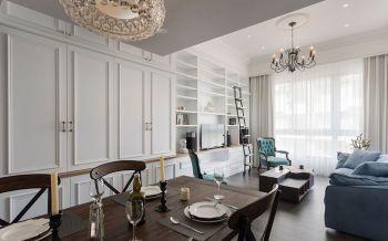 白色欧式英伦风尚两居装修效果图