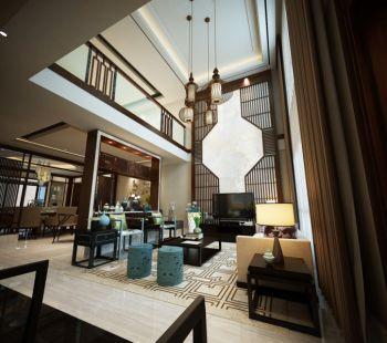 新中式风格180平米别墅房子装饰效果图