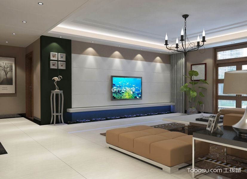 80~100m²/简约/二居室装修设计