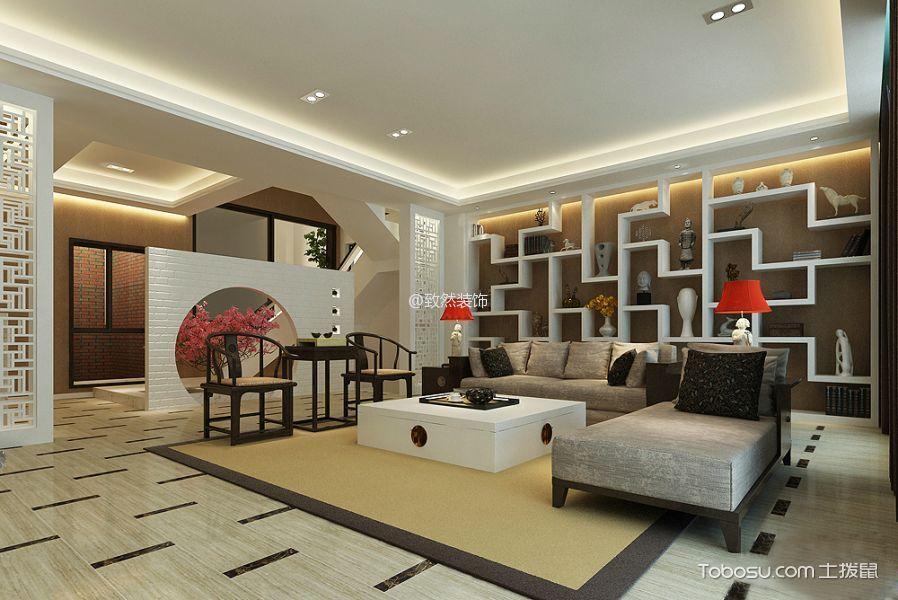 2019现代中式150平米效果图 2019现代中式别墅装饰设计