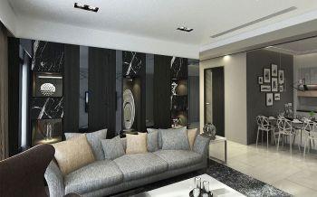 客厅黑色博古架现代风格效果图