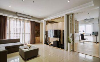 朗诗花漫里现代简约格调舒适三居装修效果图