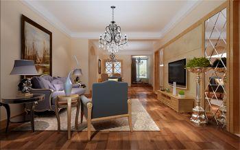 滨湖春天欧式木质风格舒适装修效果图