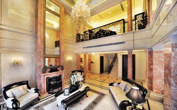 现代欧式风格120平米复式房子装饰效果图