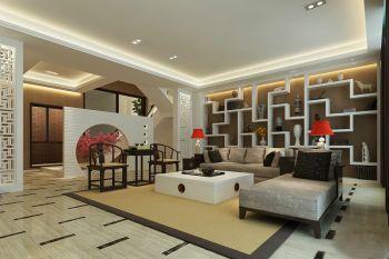 现代中式风格180平米别墅室内装修效果图