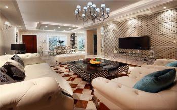 新古典风格120平米三室两厅室内装修效果图