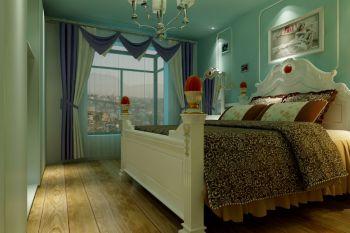 卧室窗帘田园风格装修图片