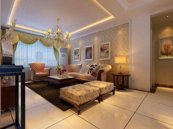 客厅欧式田园风格装修设计图片
