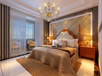 卧室欧式田园风格装潢设计图片