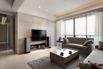 现代简约风格110平米两房两厅新房装修效果图
