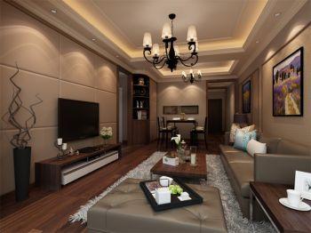 现代中式风格100平米套房新房装修效果图