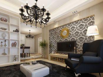 简欧风格90平米两房两厅新房装修效果图