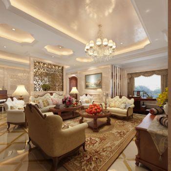 欧式风格120平米4房1厅房子装饰效果图