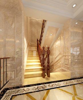 客厅楼梯欧式风格装潢图片