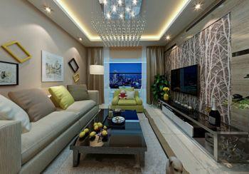 现代简约风格96平米三房两厅新房装修效果图