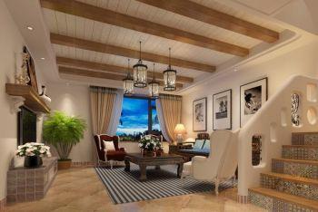 地中海风格100平米楼房新房装修效果图