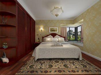 卧室红色衣柜美式风格装修图片
