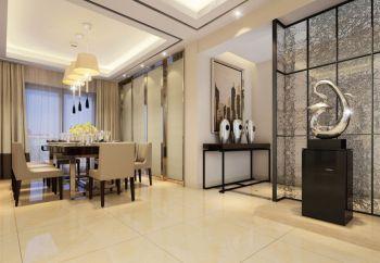 餐厅黄色窗帘现代简约风格装饰图片
