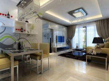 餐厅白色地砖现代简约风格装饰图片