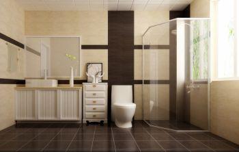 卫生间灰色地板砖现代简约风格装潢图片