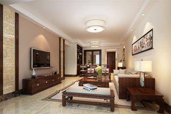 现代中式风格120平米套房房子装饰效果图