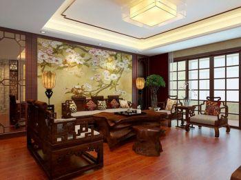 新中式风格150平米3房1厅房子装饰效果图