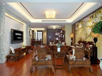 客厅吊顶新中式风格装修图片图片
