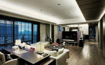 客厅咖啡色地板砖现代简约风格装修效果图