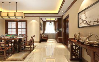 客厅走廊中式风格装饰效果图