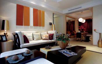 客厅白色沙发东南亚风格装修效果图