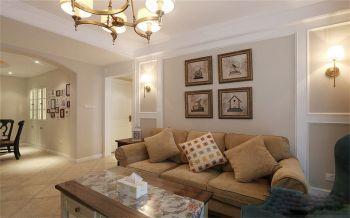 美式风格90平米二房一厅新房装修效果图