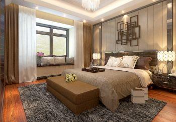 卧室咖啡色地板砖现代风格装潢效果图