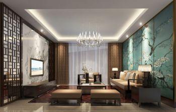 现代中式风格140平米3房1厅房子装饰效果图