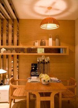 餐厅黄色餐桌日式风格效果图