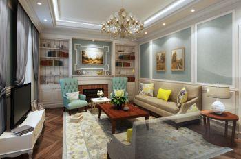 2019法式客厅装修设计 2019法式电视柜装修图片