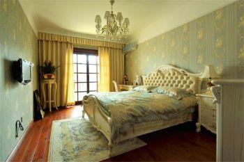 卧室黄色窗帘混搭风格装潢图片