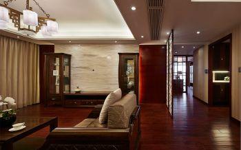 客厅红色走廊中式风格装饰效果图