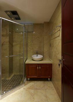 卫生间黄色背景墙中式风格效果图